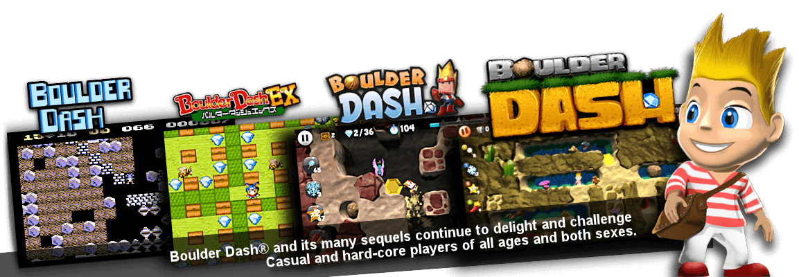 Boulder Dash®, the world-famous classic interactive game