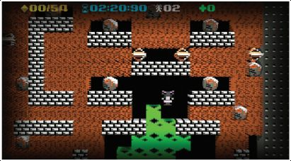» [Xbox 360] Boulder Dash-XL's 3D retro puzzle mode evokes the 'classic' look.