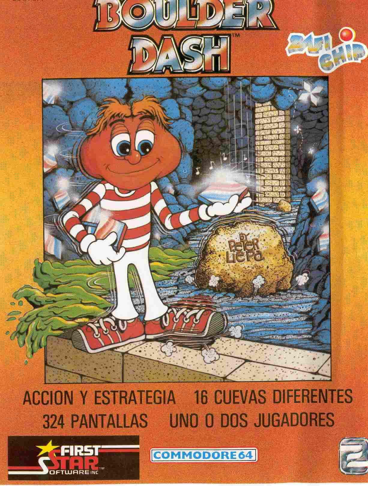 Boulder Dash Cover Image C64 Spain