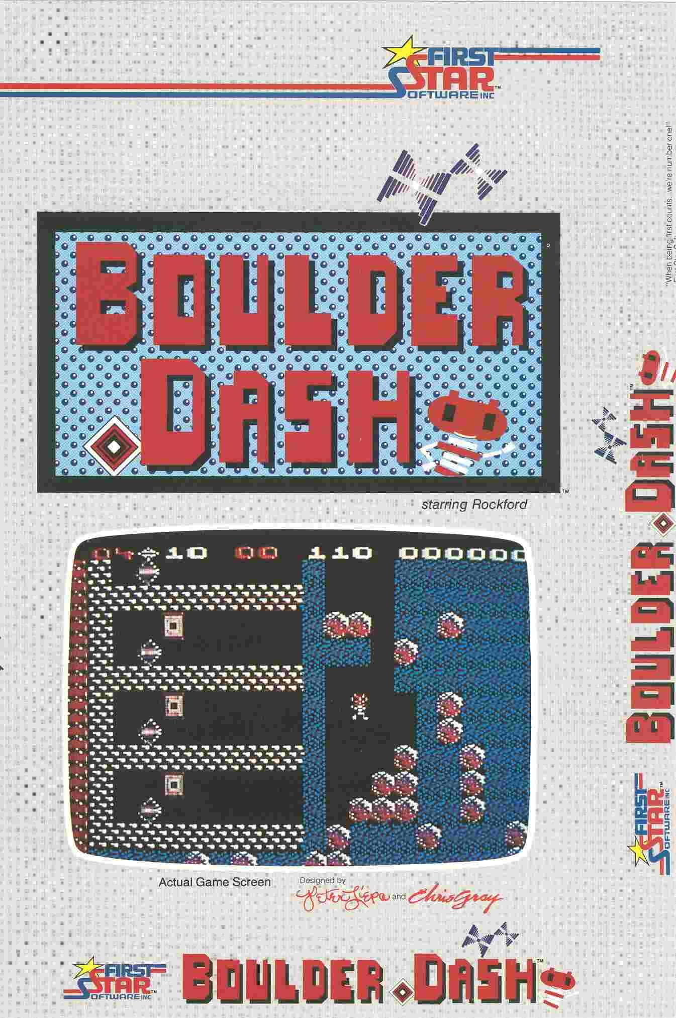 Boulder Dash (Atari 8-bit, Feb, 1984)