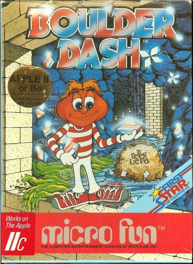 Boulder Dash cover Apple II or IIe