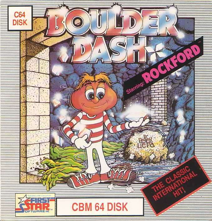 Boulder Dash Cover Image - Commodore C64Fujitsu FM-7 tape
