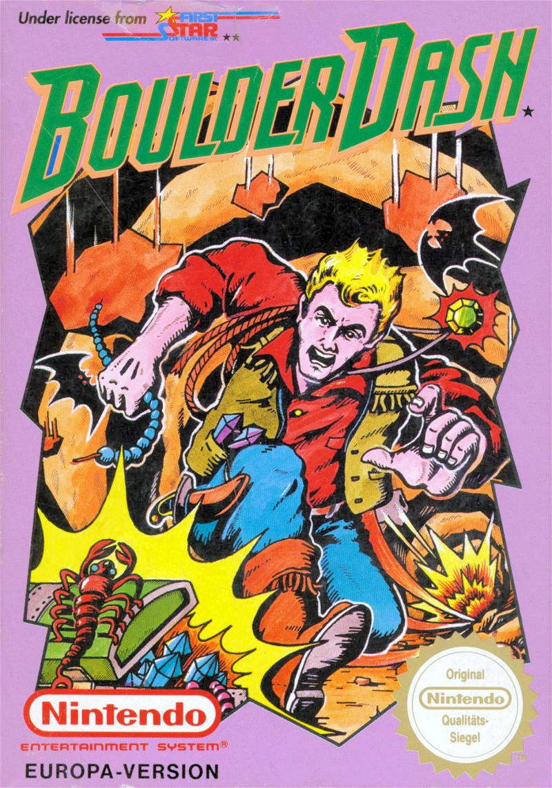 Boulder Dash Cover Image Nintendo NES (1990)