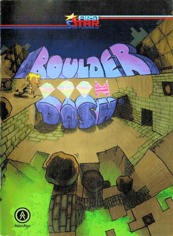 Boulder Dash Cover Image Atari 2600