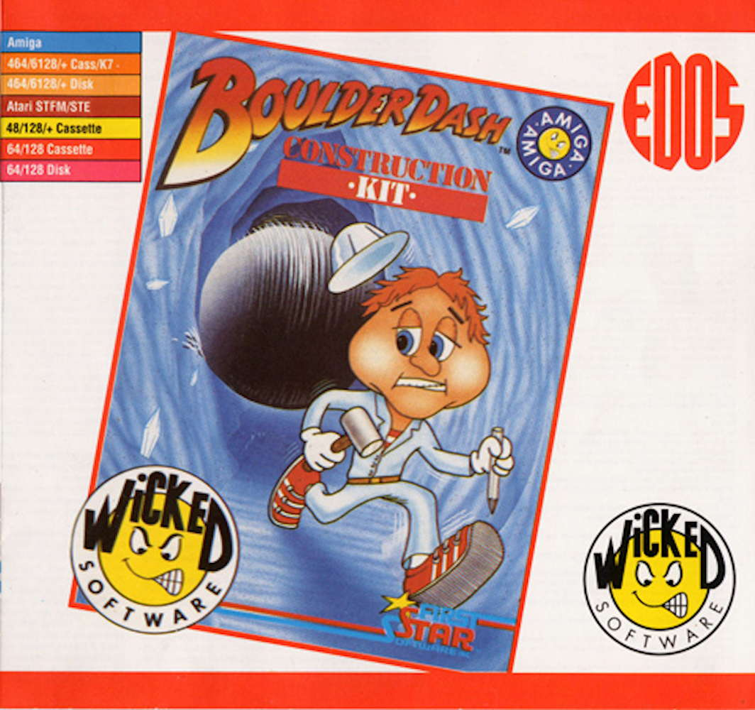 Boulder Dash Construction Kit Wicked software Amiga cover image