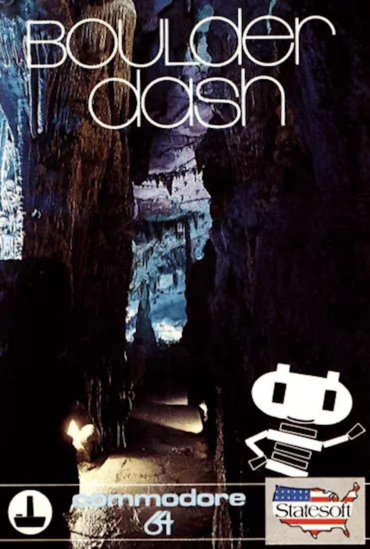Boulder Dash Cover Image C64