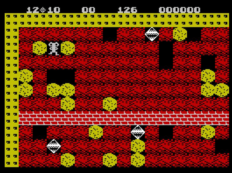 Figure 1. Boulder Dash for the Sinclair ZX Spectrum.