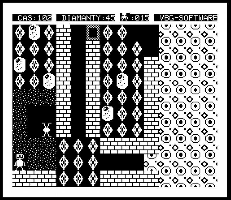 Figure 3. The reimagined Boulder Dash for the PMD 85 computer.